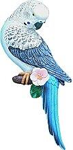 Xzbling Harz Papageistatue, Wandmontage Hängende
