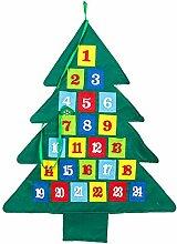 Xzbnwuviei Weihnachts-Countdown-Kalender,