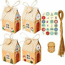 Xzbnwuviei Weihnachtshaus Süßigkeiten-Box mit