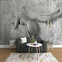 XZDXR 3D Reliefschönheit Engel Tapete Für Wände