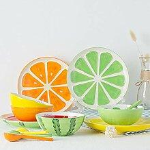 XZDXR Geschirr Keramik Glasur Farbe Babybesteck