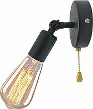 XZHBD E27 Vintage Industrie Loft-Wandlampen,