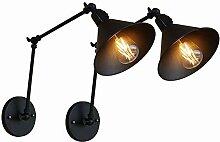 XZHBD Innen Beleuchtung, Schwarz Metall Wandlampe,