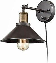 XZHBD Schwarz Metall Wandlampe, Verstellbar