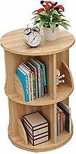 XZPENG Holz Schreibtisch Bücherregal 360°