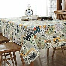 XZX Home Baumwolle und Leinen Magazin Stichmuster Tischdecke , 90*90
