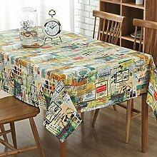 XZX Home Baumwolle und Leinen Magazin Stichmuster Tischdecke , 140*140