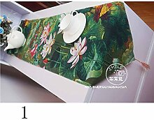 XZX Home Café Vintage-Bar Cotton Tischdecke Tischfahne , 32*180cm , 2
