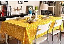 XZX Home Einfache Baumwolle und Leinen rechteckig Küche Tischdecke , 120*120