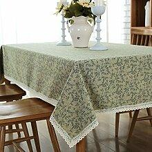 XZX Home Einfache dornige Blume Polyester-Baumwoll-Tischdecke , 120*160
