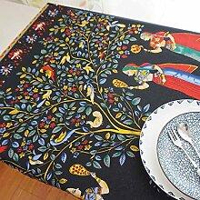 XZX Home Nordic-Art Retro Cotton Tischdecke , 60*60cm
