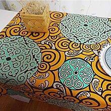 XZX Home Totem China Auspicious Wolken Baumwolle Tischdecke Tischfahne , 140*220cm