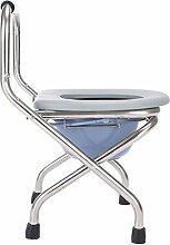XZYZHL Duschstuhl, zusammenklappbar mit Toilette
