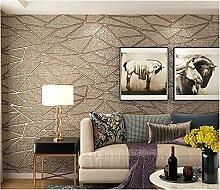Xzzj Continental Wohnzimmer Tv-Wand Papier Hintergrund 3D Vliestuch Minimalistischen Modernen Schlafzimmer Tapete, Braun