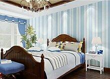Xzzj Minimalistische Strukturtapete Schlafzimmer Wohnzimmer Studie Restaurant shops Beauty Salon Rosa vertikale schwarze Linien Hintergrund Tapete, dunkle Blau