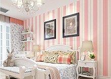 Xzzj Minimalistische Strukturtapete Schlafzimmer Wohnzimmer Studie Restaurant Shops Beauty Salon Rosa Vertikale Schwarze Linien Hintergrund Tapete, Ro