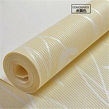 xzzj Minimalistischen modernen warm romantischen Schlafzimmer Garten Lounge Vlies Tapete, beige, nur Wallpaper
