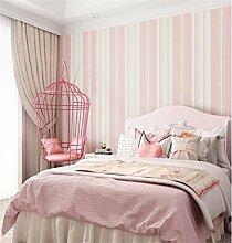 Xzzj Moderne Und Minimalistische 3D Die Vertikale Streifen Tapete Kinderzimmer Schlafzimmer Wohnzimmer Wand Vlies Tapete, Rosa