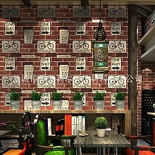Xzzj Sepia Bricks Firewall Brick Brick Block Schreiben Radfahren Fahrrad Wallpaper Charakter Dining Cafe Shops Wallpaper, Ro