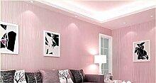 Xzzj Vlies Tapete Schlafzimmer Minimalistischen Streifen Shop Wohnzimmer Hintergrundbild Auf Den Mond, Dicke Rosa