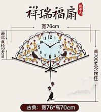Y-Hui Die Uhr Ventilator Uhren das Wohnzimmer Wanduhr Mute Home Art Wand Pendeluhr, 20 Zoll oder mehr, Braun große Aluminium Fach [Aspekt 76 * 70 Cm