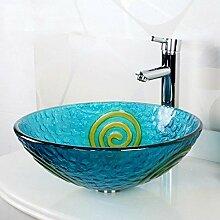 Y&M Bad Waschbecken,Zeitgenössische Kunst Glas
