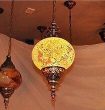 Y&M Europäische mediterranen Stil Anhänger Bohemian Marokko Veranda Lichter Korridor Lichter Kristall-Kronleuchter Lampe, rechts , 60