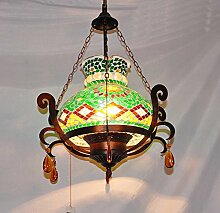Y&M Europäische mediterranen Stil Anhänger Bohemian Marokko Veranda Lichter Korridor Lichter Kristall-Kronleuchter Lampe, rechts , 40w