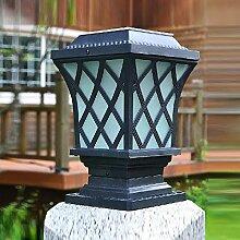 Y&M Home solar outdoor/led leuchtet Gartenzaun Post Licht/Garten Licht/solar Säule Lampe , black