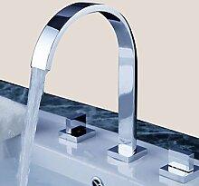 Y&M Wasserhahn,Chrom Waschbecken Wasserhahn weit verbreitete zeitgenössisches Design Wasserhahn