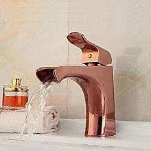 Y&M Wasserhahn,Europäische Modestil stieg gold
