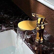 Y&M Wasserhahn,Gold fertigen Deck Wand hing