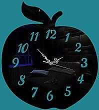 Y-YT DIY Wanduhr Moderne Clock Apple Acryl Spiegel