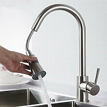 Y40081 Küchenarmatur, ausziehbar, Schwarz