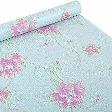 Ya Jin selbstklebende Deko-Folie mit Blumenmuster, für Regale, Schubladen, Schränke, Schreibtische grün
