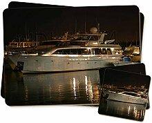 Yacht in Harbour Twin 2x Platzsets + 2x