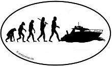 Yacht Yachting schiff boot EVOLUTION Aufkleber