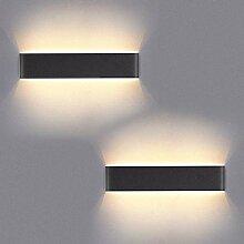 Yafido 2er Wandleuchte Innen LED 40CM Wandlampe Up