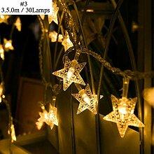 YAGAIU Hausgarten Weihnachtsdekoration Stern