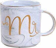 YAHAMA 360ml Tassen Mr Keramikbecher für Kaffee
