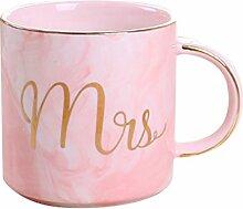 YAHAMA 360ml Tassen Mrs Keramikbecher für Kaffee