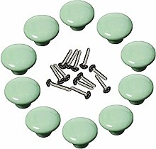 Yahead 10 Stück Keramik Türknopf Runden Türgriffe Knöpfe Schubladen Türschrank Schrank Pulls Knöpfe Moebelknoepfe Moebelgriff Schrankgriffe Knopf