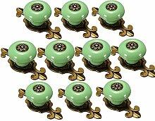 Yahead 10 Stück Keramik Türknopf Türgriffe