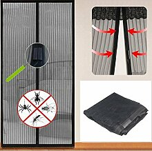 Yahee 210 cm x 100 cm Insektenschutz magnetisch Moskitonetz Fliegengitter mit 16 starken Magneten Vorhang