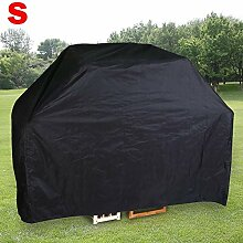 Yahee BBQ Grillabdeckung Wasserdichte Abdeckungen Schutzhuelle Haube schwarz für Gasgrill Größenwahl (S-155 x 65 x 115 cm)