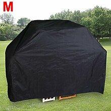 Yahee BBQ Grillabdeckung Wasserdichte Abdeckungen Schutzhuelle Haube schwarz für Gasgrill Größenwahl (M-173 x 65 x 115 cm)
