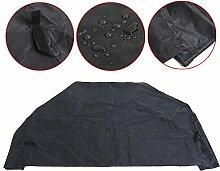 Yahee Grillabdeckung Abdeckhaube Schutzhülle für BBQ Gasgrill aus Polyester wasserdicht Schwarz (S_155 x 65 x 115 cm)