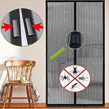 Yahee Insektenschutz Türvorhang mit 16 starken Magneten Moskitonetz Vorhang 210 cm x 100 cm
