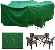 Yahee Schutzhülle Abdeckhaube Gartenmöbel Gartenschaukel wasserdicht aus PVC für Sessel, Stühle und Polster Grün M- 205 x 145 x 70 cm (L x B x H)