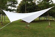 Yahee Sonnensegel Garten Sonnenschutz wasserdicht UV Schutz Quadrat 4 x 4m weiß